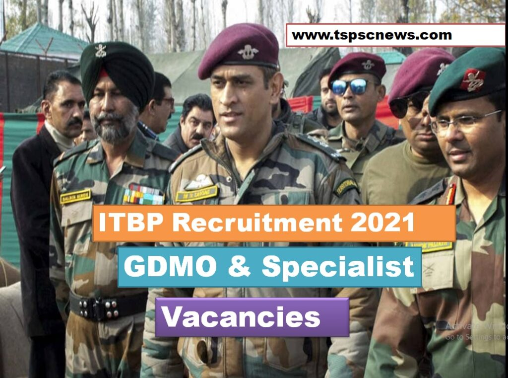 ITBP Recruitment 2021 Notification
